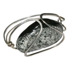 ELSA FREUND Abstract Silver Bracelet (1960's)