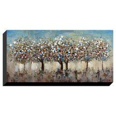 27 X 55-in Pastel Trees Gallery Art