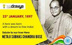 One of the greatest leaders of India, Netaji Subhas Chandra Bose continues to inspire us. Salutations to him on his birth anniversary. #Sadravya