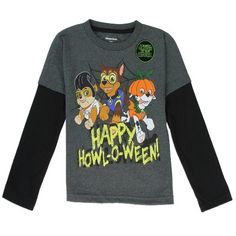 c-pw194-2-500x500 Halloween Outfits, Halloween Clothes, Toddler Boys, Kids, Paw Patrol, Charcoal, Long Sleeve Tees, Graphic Sweatshirt, Comfy