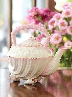 Belleek Shell Teapot...