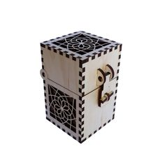 Latch Box-short with spiral-regular Laser Cut Box, Laser Cutting, Laser Cutter Projects, Laser Art, Table Top Design, Craft Accessories, Wood Gifts, Cube Storage, Scroll Saw