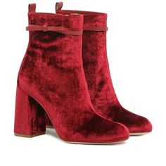 REDValentino Ankle Boot With Bow (34.230 RUB) ❤ liked on Polyvore featuring shoes, boots, ankle booties, scarpe, red, bootie boots, red zipper boots, block heel bootie, red booties and side zip booties