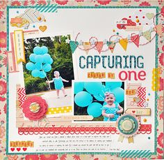 Capturing Claire At One - Crate Paper - Oh Darling Collection http://www.scrapbook.com/gallery/image/layout/5246625.html#2impJ9l1vmYQo9QK.99