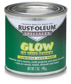 00743-1007 - Rust-Oleum Glow-In-The-Dark Brush-on Paint - BLICK art materials paint on glass light replacement ball shaped covers turn upside down in lawn or in planter...
