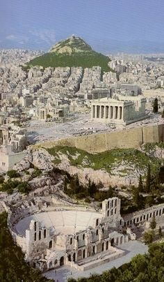 Herodes Atticus Theater, The Parthenon and Lycabettus Hill ~ This is Athens
