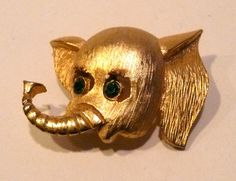 Vintage Elephant Brooch by AuntEddiesCloset on Etsy, $14.00
