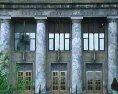 Alaska state capitol building in Juneau.