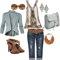 A fashion look from April 2012 featuring yoga tank tops, almost famous jeans and heeled sandals. Browse and shop related looks. Polyvore Casual, Fashion Outfits, Womens Fashion, Fashion Ideas, Fashion Styles, Hippie Outfits, Casual Chic, Casual Attire, Passion For Fashion