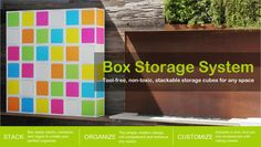 ❑ Box ❑ is perfect to organize any space! Door, no door, or add wheels. Make organization personal again!