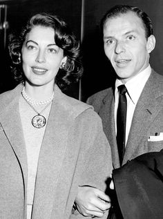 :Frank & Ava at a Judy Garland show at the Palace Theatre, October 29th, 1951