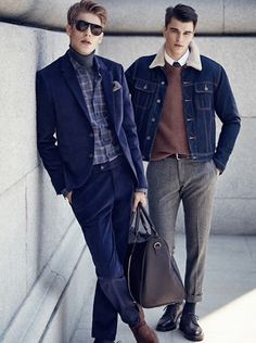 men's fashion & style - Mango Man Urban Dress Code Autumn/Winter 2015...