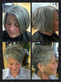 Short cuts on grey hair by denise.su