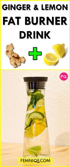 How To Use Ginger For Weight Loss (Fat Burning Drink) - You can use ginger for weight loss AKA fat burner. This detox drink will help you to lose weight fast safely!