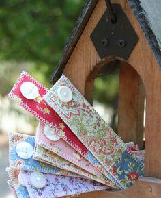 Floral Fabric Bookmark. $3.99, via Etsy.