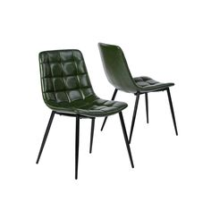 Homy Casa Dining Chairs Set of 2 Soft Seat and Back Kitchen Chairs with Solid Metal Legs for Living Room Bedroom Suede Brown