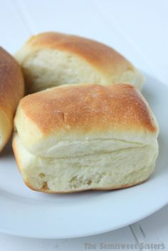 The Original Famous Parker House Dinner Roll Recipe! The inside is so soft, tender, & buttery!
