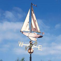 Copper Sailboat Weathervane