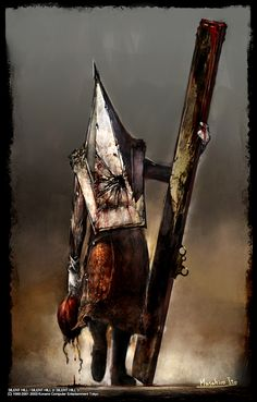 "Pyramid Head ""White Hunter""_Белый охотник"