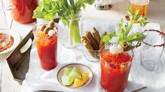 It's Bloody Mary o'clock. We've gathered everything you need to know to set up the perfect Bloody Mary bar. Punch Margarita, Strawberry Margarita, Margarita Recipes, Cocktail Recipes, Strawberry Summer, Drink Recipes, Strawberry Punch Recipes, Summer Punch Recipes, Alcoholic Punch Recipes