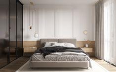 Goodhouse on Behance Apartment Interior, Apartment Design, Home Bedroom, Modern Bedroom, Modern Interior, Interior Design, Classic Interior, Interior Ideas, H Design