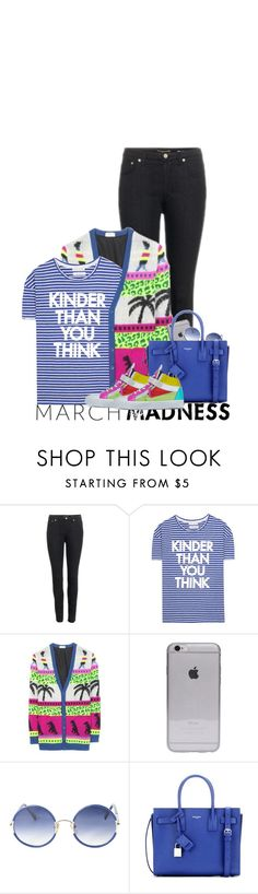 """""""March Madness: The Wild One"""" by hollowpoint-smile ❤ liked on Polyvore featuring Yves Saint Laurent, Each X Other and Rebecca Taylor"""