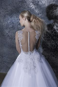 Our Amarise ! Couture Wedding Gowns, Wedding Dresses, Fairytale Bridal, Princess Line, Open Back Wedding Dress, Chapel Train, Bridal Collection, Body Shapes, Fairy Tales