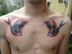 swallow 37 Exceptional Chest Tattoos For Men
