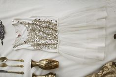 Sequinned Flowergirl Dresses / Inspired By: Glittering Nights / Wedding Style Inspiration / LANE