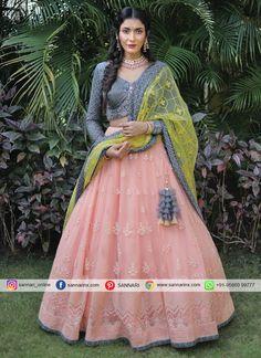 Lehenga Style Saree, Lehnga Dress, Party Wear Lehenga, Indian Lehenga, Bridal Lehenga, Lehenga Choli, Sari, Indian Designer Outfits, Indian Outfits