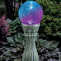 Outdoor Color-Changing Solar Gazing Ball Figure