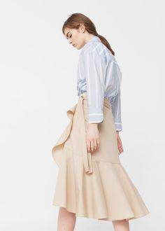 Falda midi volante | MANGO