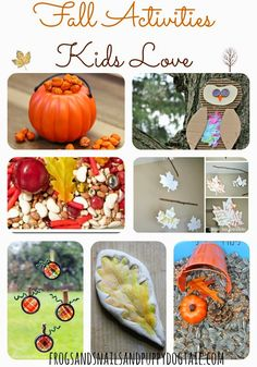 10 Fall Activities Kids Love - Pinned by Therapy Source, Inc. - txsource.net