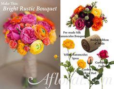 diy bright rustic bouquet, crafts, flowers, gardening, home decor