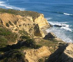 Hiking at Torrey Pines State Reserve- take in the beautiful scenery and views