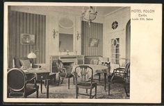 old postcard: AK Berlin, Hotel Adlon, Louis XVI. Salon