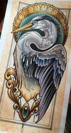 65 Trendy Ideas For Neo Traditional Bird Tattoo Awesome Tattoo Designs, Tattoo Design Drawings, Bird Drawings, Tattoo Sketches, Animal Drawings, Drawing Sketches, Drawing Birds, Tattoo Ideas, Drawing Animals