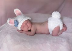 Bunny Hat and Diaper Cover <3
