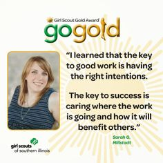 Sarah G. from Millstadt earned her Girl Scout Gold Award for renovating the community food pantry.