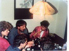 """v.r.n.l.  Ich, mit meiner 80-ger Jahre Krause, Dirk, Manuela und Thomas von der Seite, dem wir die """"Beziehungen"""" zum Waffenschmied verdankten"""