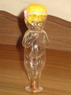 Antique''Naked+Child''+Kewpie+Doll+Glass+Candy+Container+Bottle1930's+By+Barrel+ Old Candy, Kewpie Doll, Vintage Candy, Candy Containers, Glass Candy, Mason Jar Wine Glass, Barrel, Naked, Child