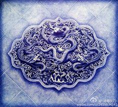 Zhuge Qingjia creates intricate ballpoint pen drawings, in pictures Biro Art, Ballpoint Pen Drawing, China Image, Baking Soda Shampoo, China Art, Blue China, China Patterns, Art Pieces, Sketches