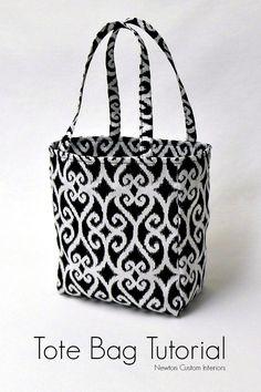 Tote Bag Tutorial from NewtonCustomInteriors.com