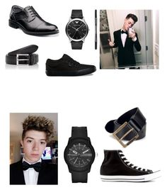 """Double dates with Jachary Havery💍💗🔥"" by harrilou03 on Polyvore featuring Emporio Armani, Diesel, Vans, Florsheim, Converse, Barneys New York, men's fashion and menswear"