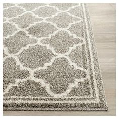 Camembert Rectangle 6' X 9' Indoor/Outdoor Patio Rug - Dark Gray / Beige - Safavieh