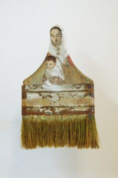 Rebecca Szeto Turns Used, Tarnished Paintbrushes and Transforms Them Into Extravagant Women  - Mixed Media