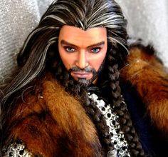 Hobbit LOTR Thorin Oakenshied ooak barbie Ken way hotter than real deal ;)