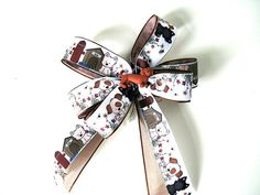 Dachshund gift bow/ Pet collar decoration/ Gift bow for a dog/ Gift for pets and pet lovers/ Bow for auctions/ Treat gift bow  (DC72)