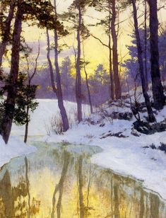 The New Moon by Walter Launt Palmer