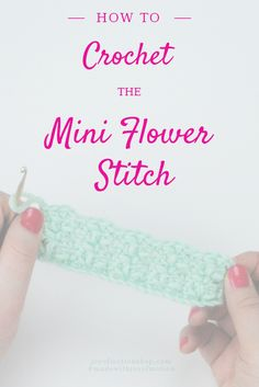 """– a step-by-step picture & video guide Today I'm sharing a lovely flowery crochet stitch with you – """"The Mini Flower Stitch"""". This stitch contains a few basic stitches as well as a fewalterations. You'll need to know single crochet stitches& chains– & the rest will be explained as you go. If you have bought …"""